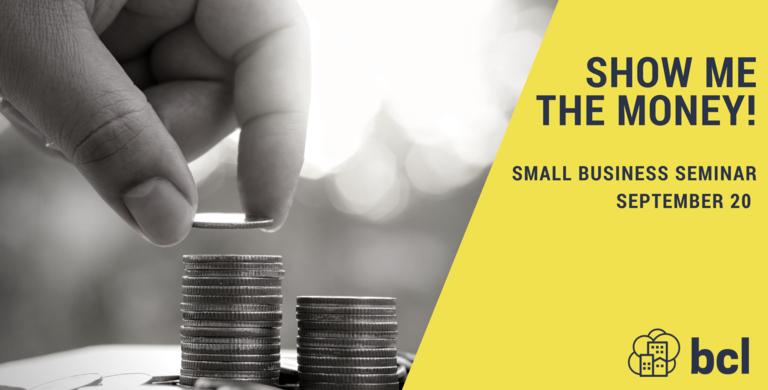 Show me the money: A Small Business Funding Seminar - Event